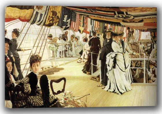 Tissot, James Jacques Joseph: The Ball on Shipboard. Fine Art Canvas. Sizes: A4/A3/A2/A1 (001639)